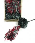 Jul-Baumschmuck Wollkugel h.blau/rot/grau 6er-Set