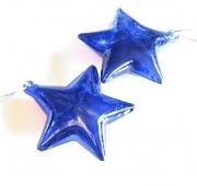 Glas Stern 9cm blau 6er-Set