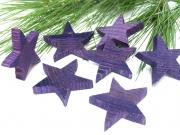 Holz Stern 6cm purple 16 Stück