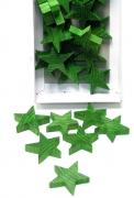 Holz-Stern 4cm grün 24er-Set